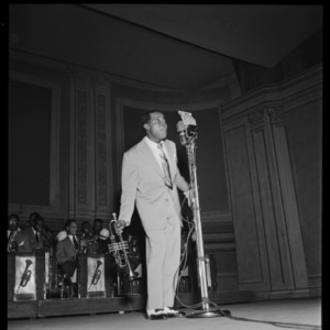 Portrait of Louis Armstrong, Carnegie Hall, New York, New York, circa February 1947. (GPA Photo Archive / William P. Gottlieb / Library of Congress)