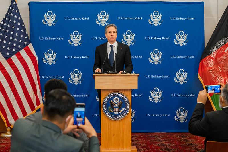 Secretary Blinken Holds a Press Availability Kabul
