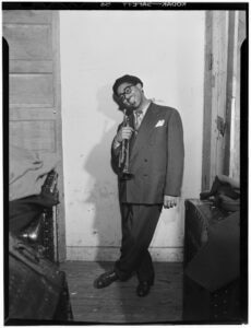 Portrait of Dizzy Gillespie, New York, New York, circa May 1947. Gillespie toured in Eastern Europe and Asia as a Jazz Ambassador. (GPA Photo Archive / William P. Gottlieb / Library of Congress)