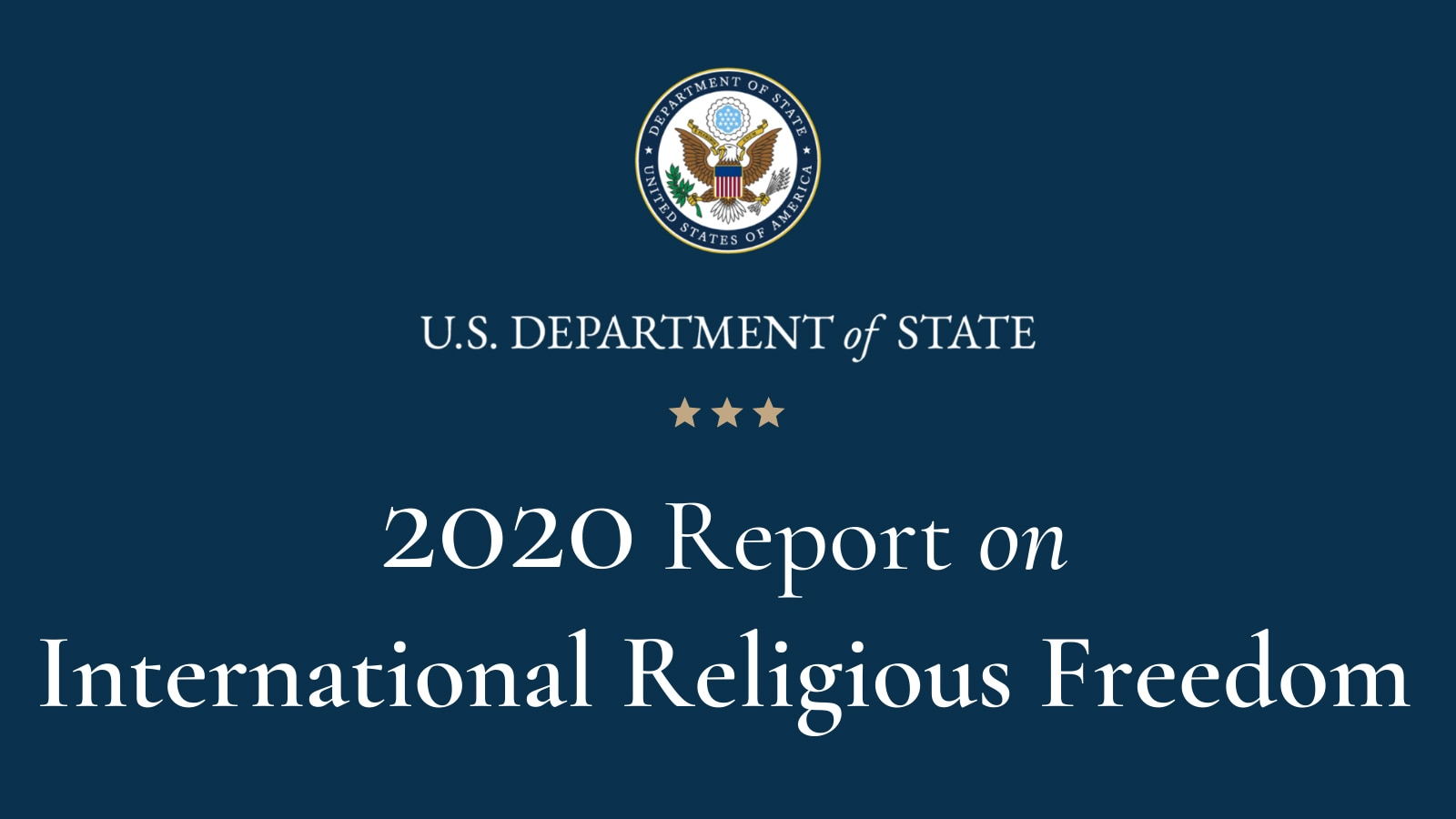 2020 International Religious Freedom Report