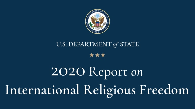 U.S. Department of State 2020 Report on International Religious Freedom