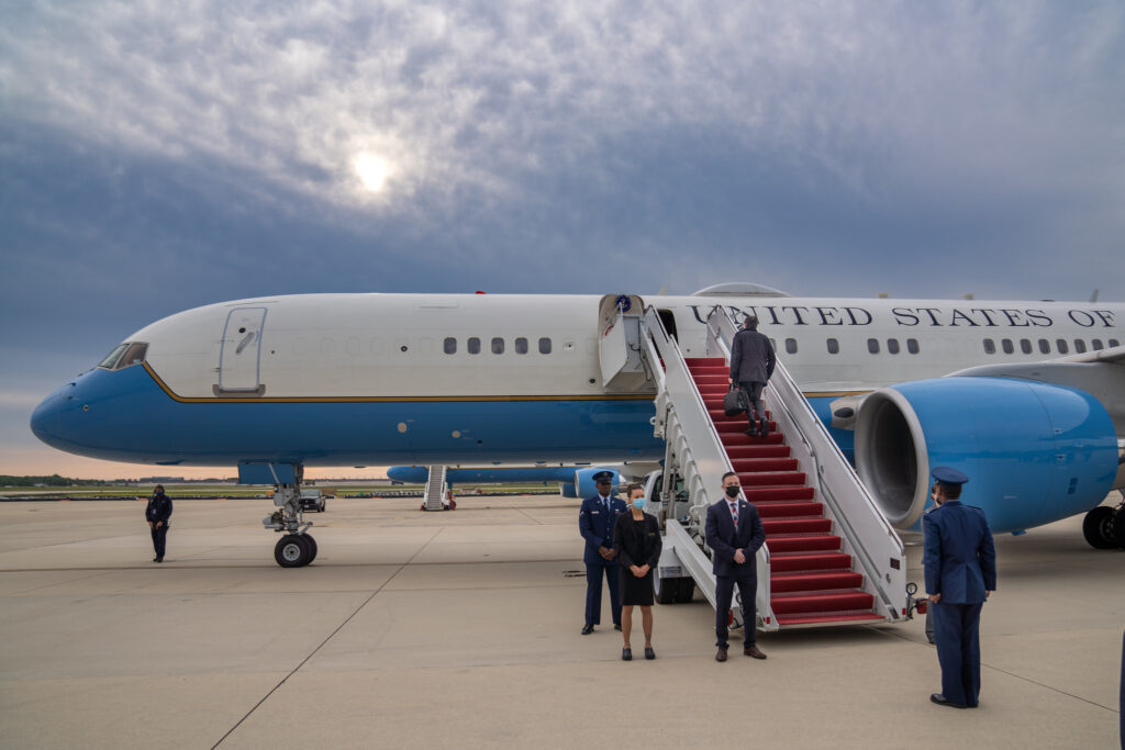 Secretary Blinken Departs Joint Base Andrews