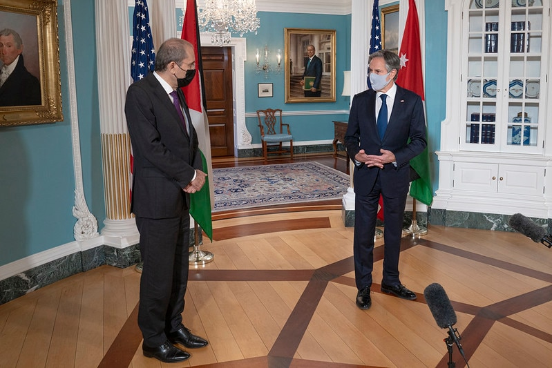 Secretary Blinken Meets with Jordanian Foreign Minister Ayman Safadi