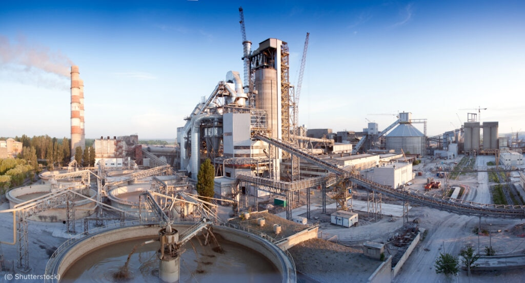 Cement production contributes substantially to global carbon dioxide emissions, so cement plants could be candidates for implementing carbon capture.