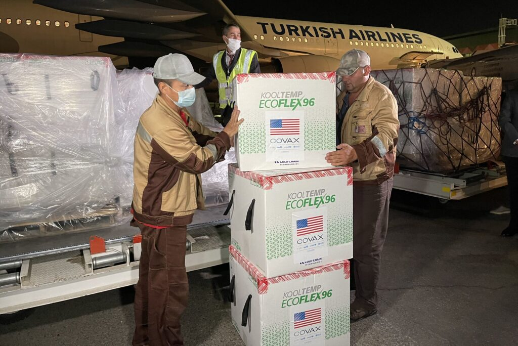 U.S. delivers COVID-19 vaccines does to Tajikistan
