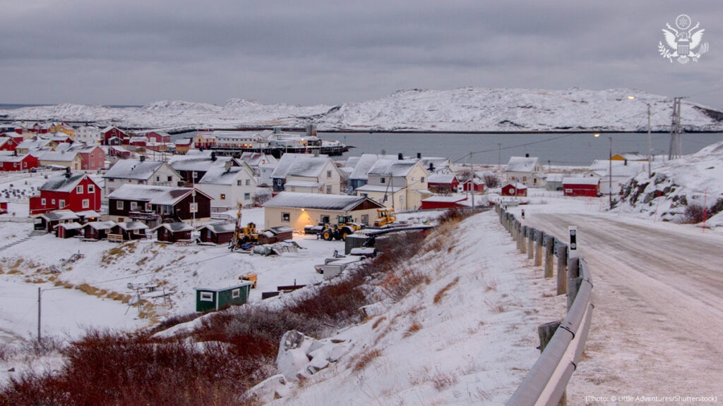 Arctic coastal settlements are impacted by melting sea ice and thawing permafrost.