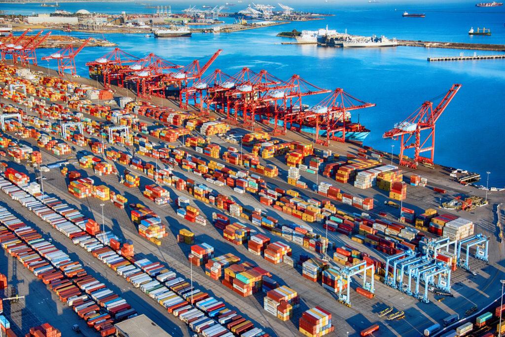 Port Of Long Beach, Los Angeles Aerial