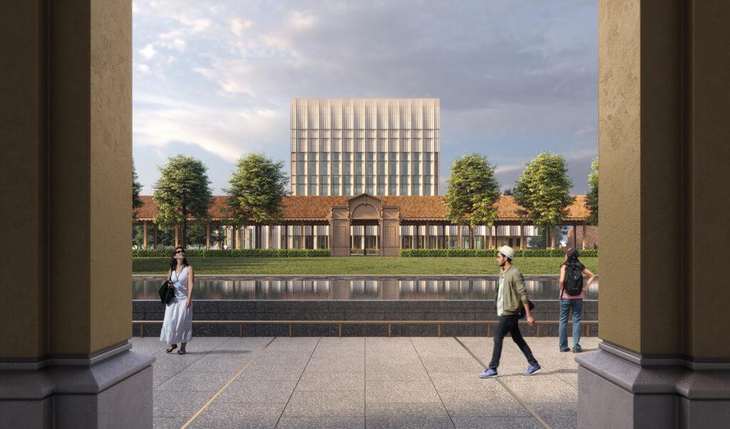 OBO Milan Rendering: Liberty Building to CG